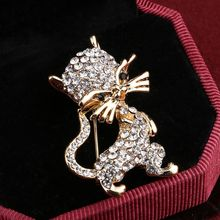 ZOSHI Cute Little Cat Brooches Pin Up Jewelry For Women Suit Hats Clips Corsages Brand Bijoux Brooch Bijouterie Free Shipping(China)