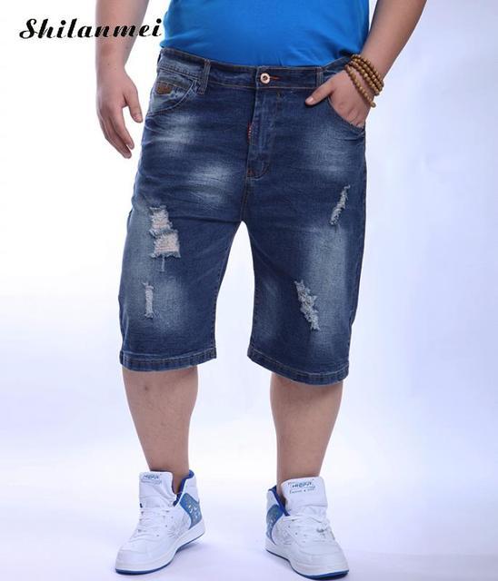 Plus Size Mens Denim Shorts 2017 New Summer Style Men S Short Jeans