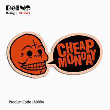 Cheap Monday Sticker Monster Ghost Funny Waterproof Suitcase Laptop Guitar Luggage Skateboard Bicycle Toy Lovely A0084 Stickers(China)