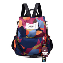 Fashion Camouflage Female Backpack Waterproof Nylon Geometric Color Travel Cute School Bag Women Oxford Multifuction Bagpack2019