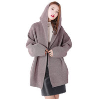 Plus Size Spring Autumn Hooded Korean Sweater Women Knitted Cardigan Femme 2018 New Long Sleeved Womens