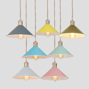 Image 1 - 6 color  modern pendant lights Nordic led lamp Christmas decorations for home lighting  lamps for living room with lampshade