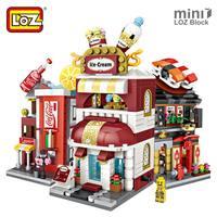 LOZ Mini Blocs Briques Ville Série Mini Street View Modèle Magasin Enfant L'assemblée L'architecture Blocs De Construction Jouet pour Enfants