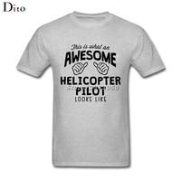 Impressionante Elicottero Pilota Tee Shirt Uomo Uomo Hip Hop Manica Corta Giorno Del Ringraziamento Personalizzato 3XL Gruppo Tshirt