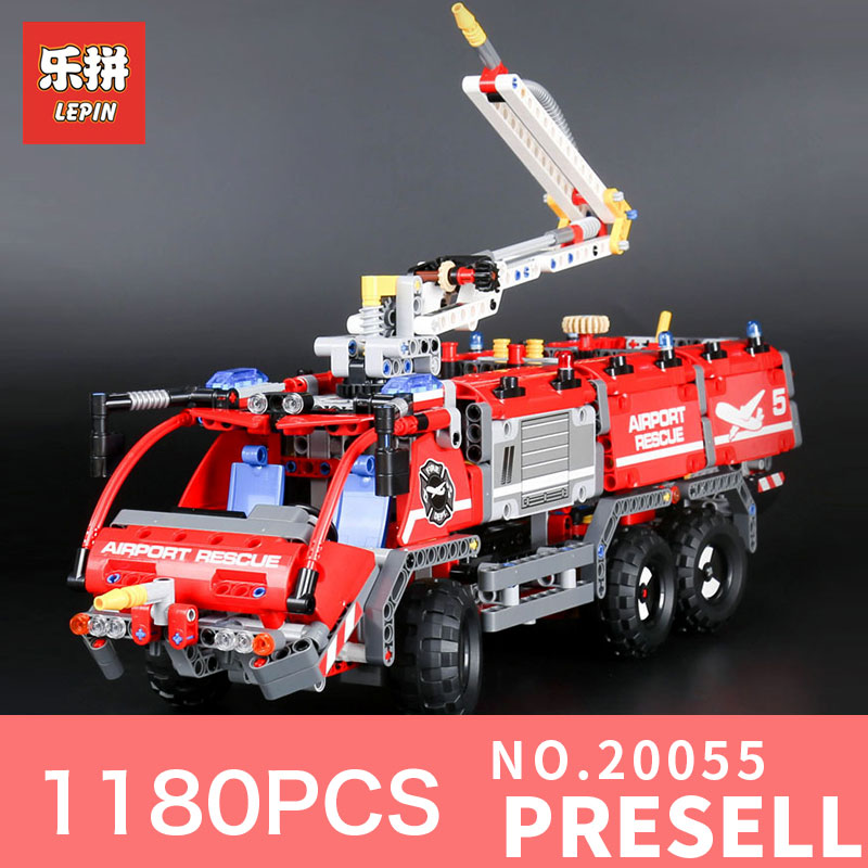 Lepin 20055 1180Pcs City the Rescue Vehicle Set Children Educational Building Blocks Bricks Toys Model 42068 for Children Gifts the rescue