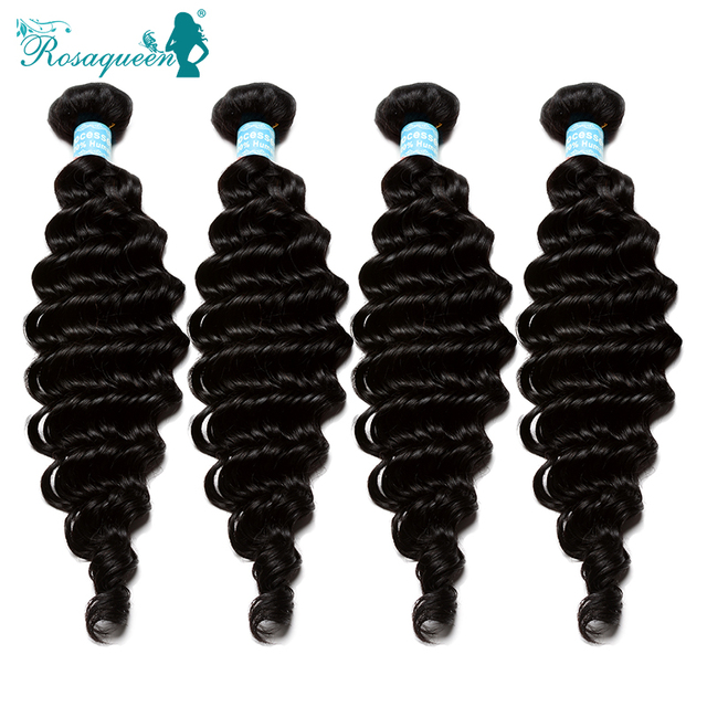 6A Malaysian Virgin Hair Deep Wave Malaysian Human Virgin Hair Weave 4 Pieces/Lot Rosa Queen Hair Products Deep Wave Human Hair