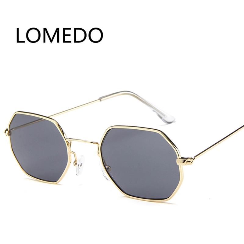 2017 Trend Retro Hexagon Sunglasses Squared Small Women ...