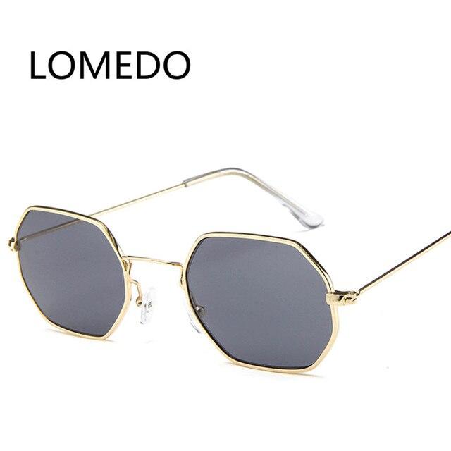 2017 Trend retro hexágono Gafas de sol cuadrado pequeño mujeres ...