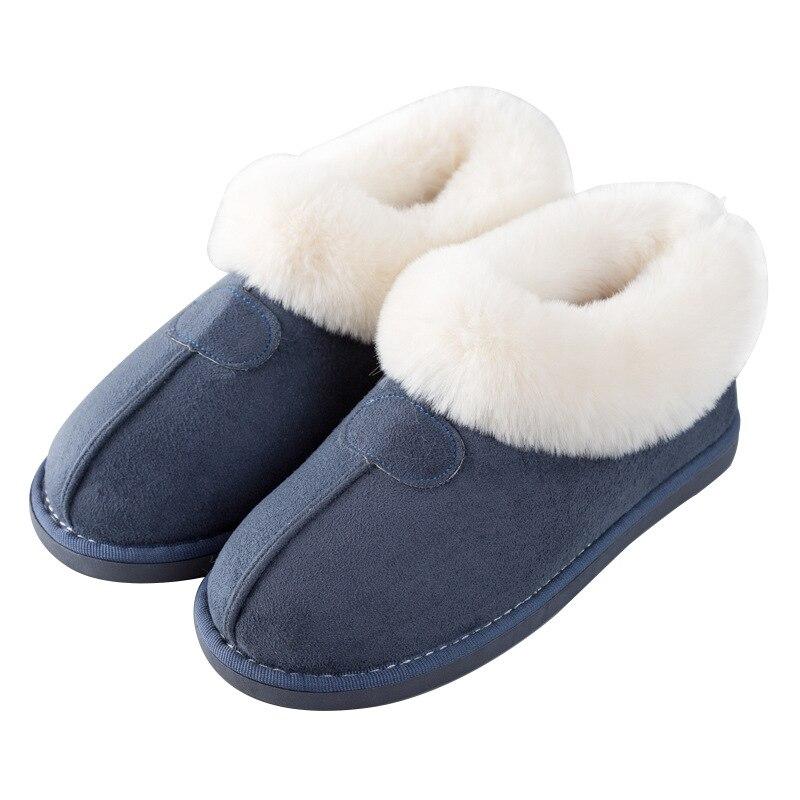 Image 2 - STONE VILLAGE New cotton slippers women thick winter plus velvet cotton shoes women winter warm plush slippersSlippers   -