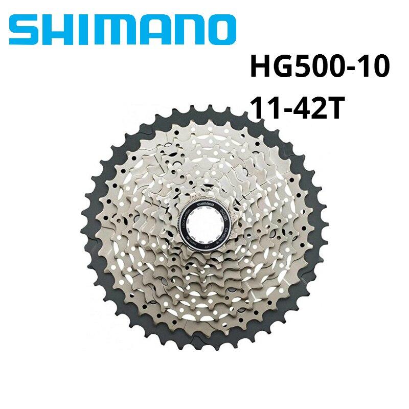 Shimano HG50 HG500 10 Vitesse M6000 vtt cassette VTT vélo roue libre HG-500-10 11-34 T 11-36 T 11-42 T
