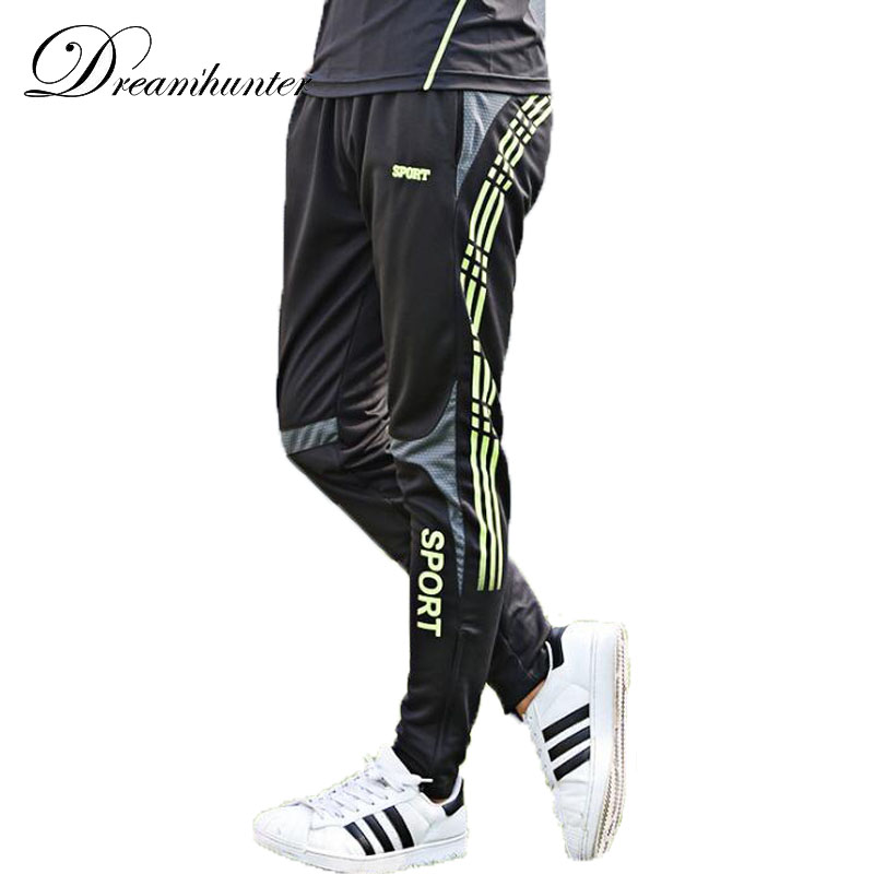 Straight trousers plus size M-3XL men's football training fitness running pants quick dry breathable outdoor leisure sports Pant santic mens windproof outdoor sports bike bicycle running fitness ciclismo pants winproof sports trousers clothing m 3xl