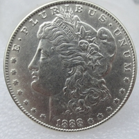 90 Silver Morgan Dollars 1888 Copy Coins Retail Whole Sale Free Shipping