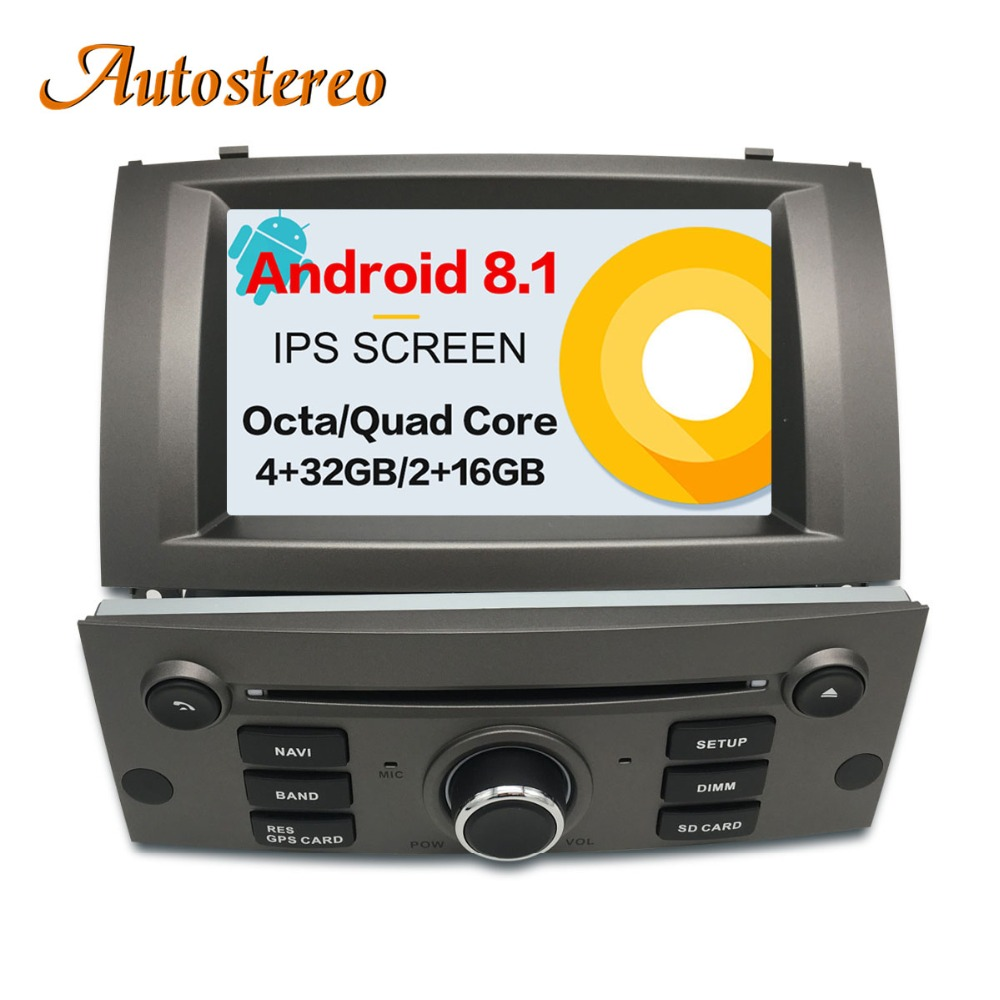 Android 8.1 Car DVD Player di Navigazione GPS Per Peugeot 407 2004-2010 unità di Testa multimedia player radio registratore a nastro stereo auto