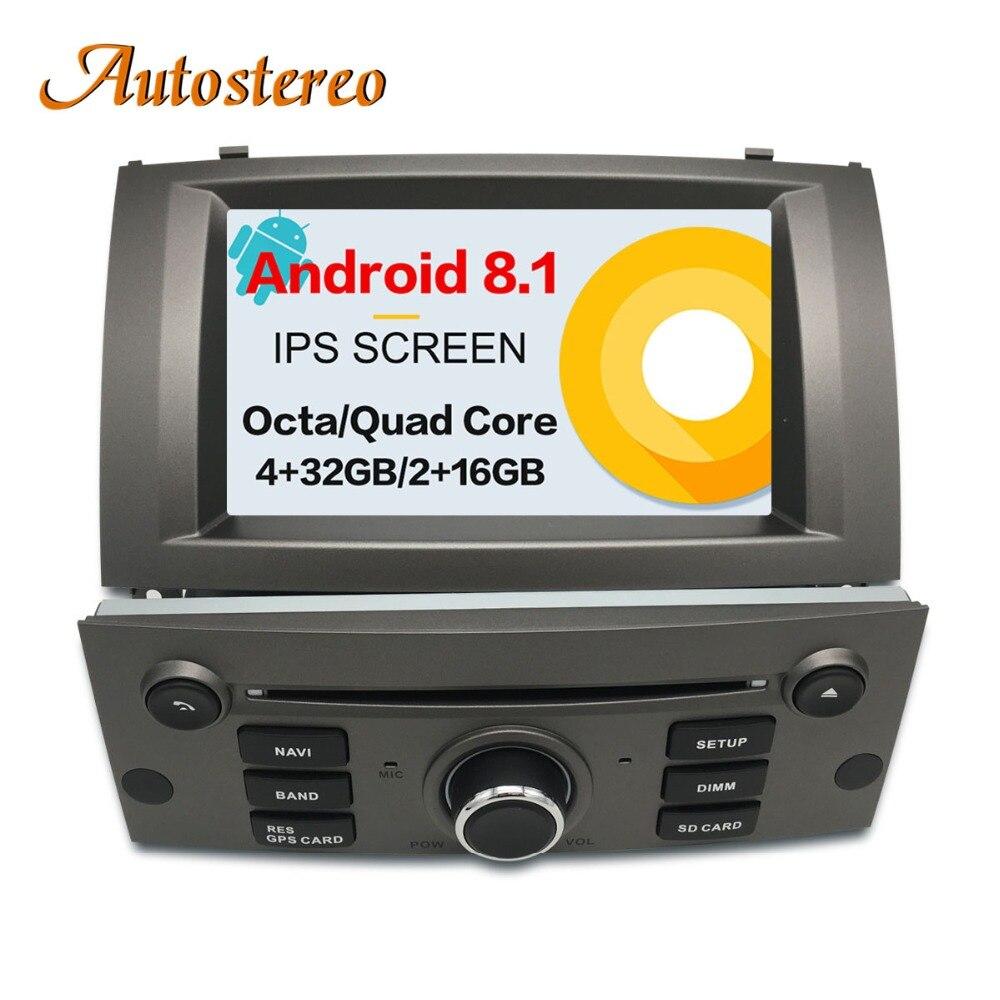 Android 8.1 Voiture Lecteur DVD GPS Navigation Pour Peugeot 407 2004-2010 Tête unité multimédia lecteur radio magnétophone auto stéréo