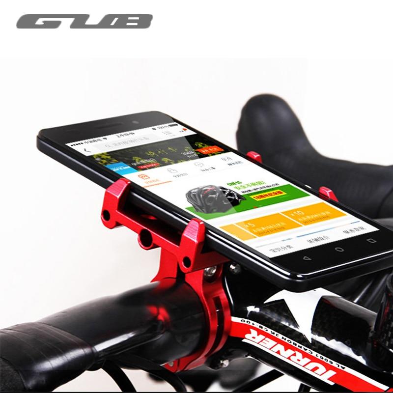 "GUB Aluminum 3.5-6.2\"" Cell Phone Holder For Bike Adjustable Bicycle Rack Cycling Mount MTB Road Bike <font><b>Handlebar</b></font> Phone Holder Rack"