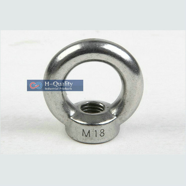 10PC/LOT Rigging Hardware M10 DIN582 Metric Thread Stainless Steel 304 Lifting Eye Nut