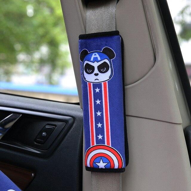 2 шт. супер мягкая ткань для автомобильных ремней безопасности наборы мультфильм поставляет автомобильные интерьеры ремень безопасности плеча рукав