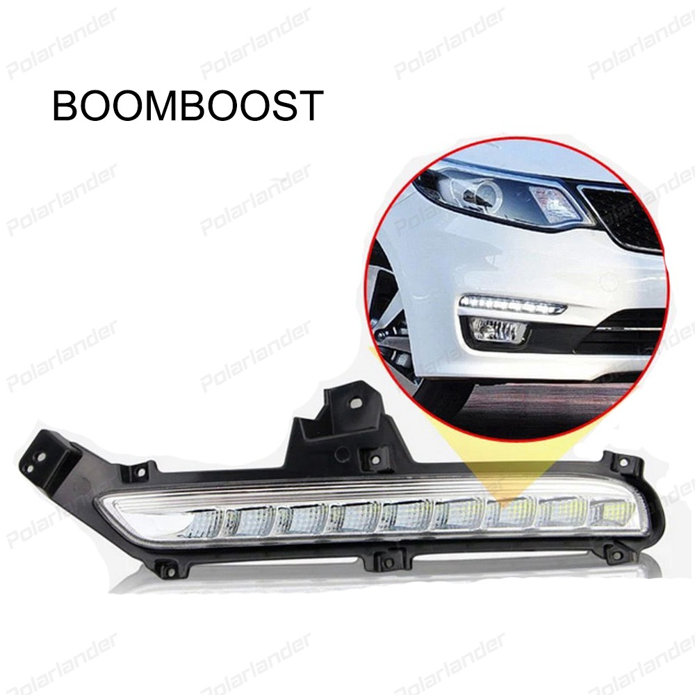 BOOMBOOST 2 pcs car parts Daytime running lights For K/ia K/2 R/IO 2014-2015 Car styling hot selling 2 pcs car accessory daytime running lights car styling for k ia k 2 r io 2011 2013