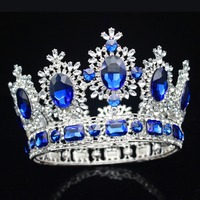 Vintage Baroque Queen Bridal Tiara Crowns Bride Pageant Headpiece Wedding Hair Jewelry Accessories For Women Prom Hair Ornaments