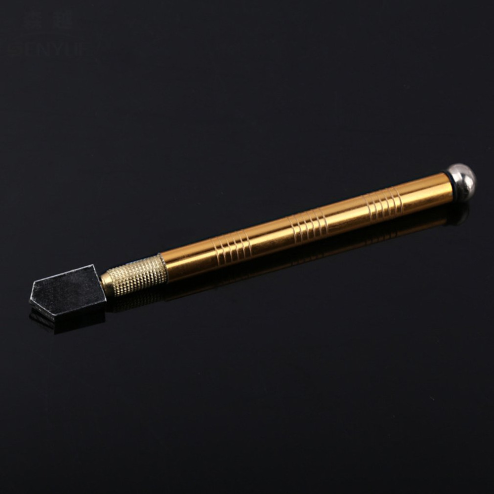 Professional Metal Handle Steel Glass Rhinestone Self-lubricating Oil Feed Tipped Glass Cutter Cutting Craft Glazing Tool