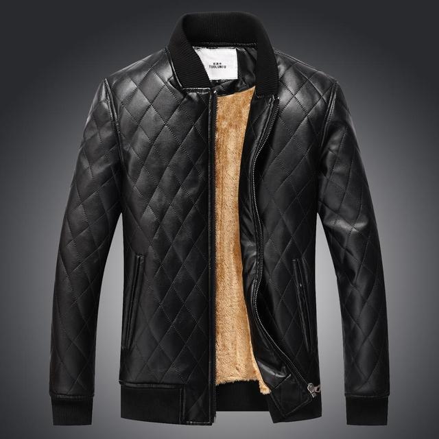 Aliexpress.com : Buy 2017 New Men's Casual PU Leather Jacket Men ...