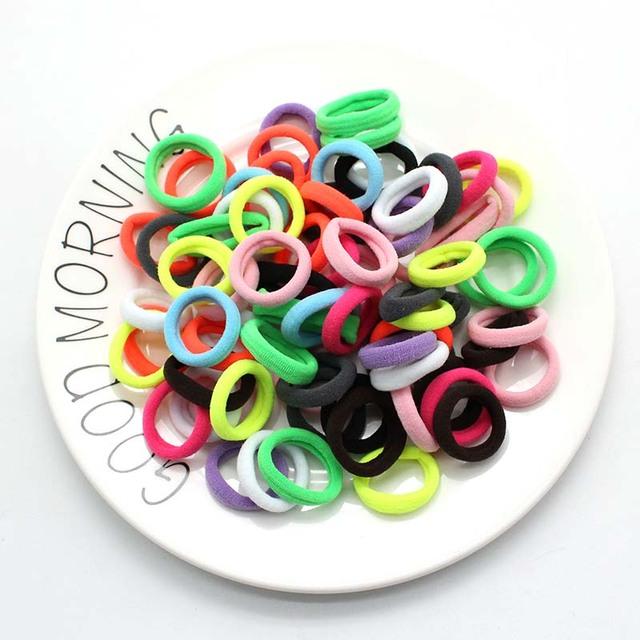 50pcs/lot  Hair Accessories kids Rubber bands Scrunchy Elastic Hair Bands Girls Headband decorations ties  Gum for hair