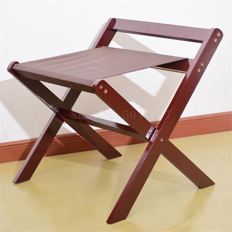 Гостиничная багажная полка мебель для отеля вешалка для спальни напольная Складная Бытовая прикроватная вешалка для одежды деревянный - Цвет: A
