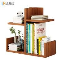 Wooden Combination Bookshelf Simple Desktop Stands Creative Student Desktop Bookcase Storage Shelves