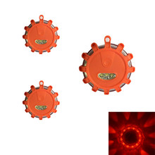 AKDSteel 1PC/3PCS LED Flashing Warning Light Roadside Flare Emergency Disc Beacon with Magnetic Base for Car or Marine Boat(China)