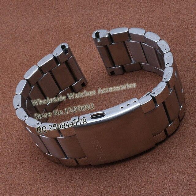 24mm 26mm 28mm Correas de reloj de Pulsera para los relojes de marca de Acero Inoxidable Reloj Correa de repuesto DZ4209 RELOJ DEL VESTIDO envío libre gratis
