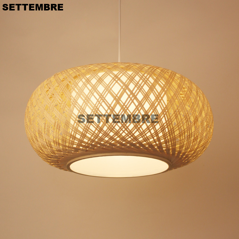 Chinese Restaurant Pendant Light Southeast Asia Bamboo Hotel Tea Room Bird Cage Lamp Nordic Japanese Style Hanging Lamps tradition design wooden southeast asia chinese style bamboo pendant lamp for restaurant veneer dining room master room lights