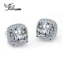 JewelryPalace Princess 5ct CZ Stud Earrings 925 Sterling Silver Earrings For Girls Engagement Wedding ceremony Earrings Luxurious Jewellery
