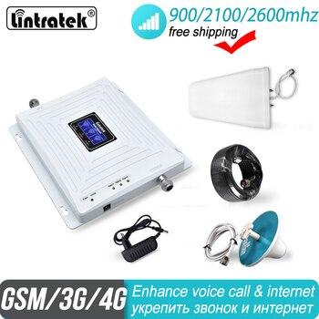 2600 4G wzmacniacz sygnału Lintratek 2G 3G Tri Band GSM 900 WCDMA 2100 FDD LTE komórkowy komórkowych UMTS 4G miasta wzmacniacz wzmacniacz 38