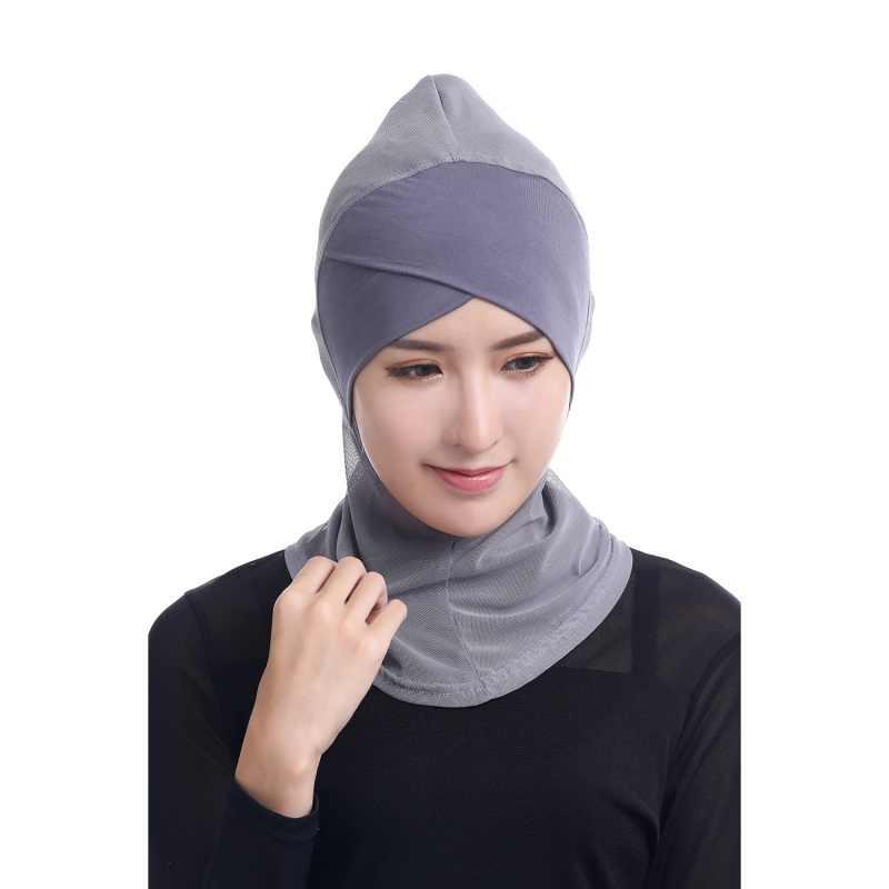 Esnek müslüman arabistan orta doğu kafa bandı ayarlanabilir arap ön eşarp başörtüsü katı renk yüksek kalite yeni