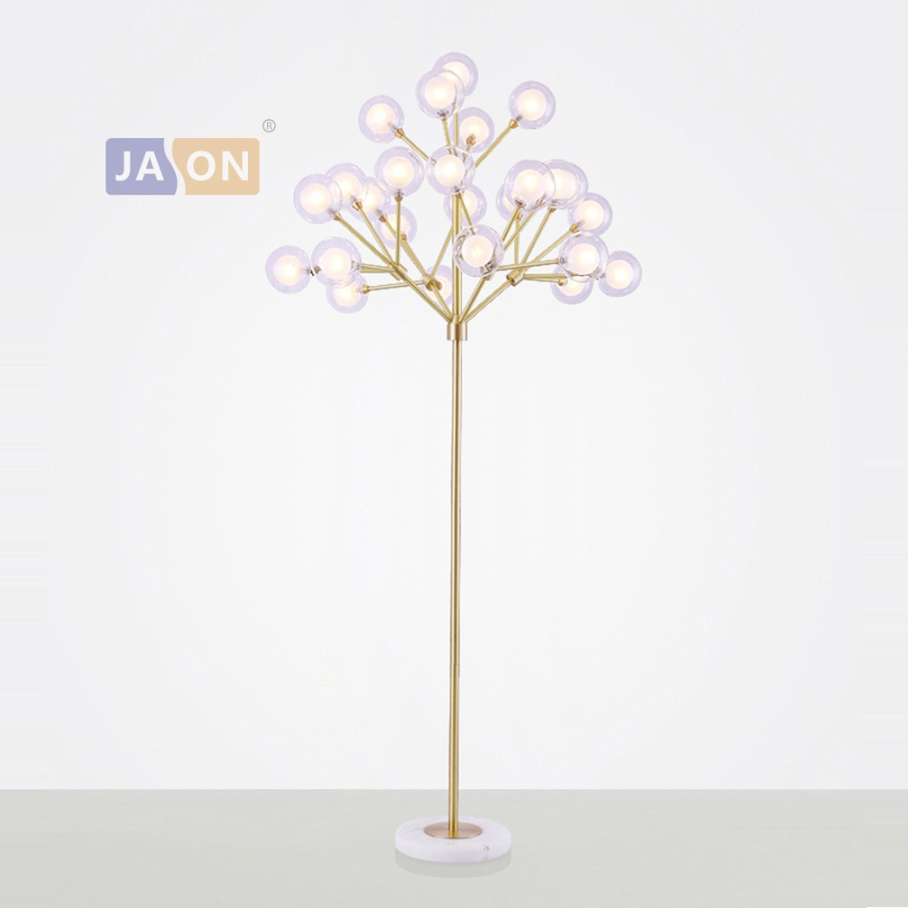 Lamps & Shades Intellective Led G4 Postmodern Coppr Marble Glass Led Lamp Led Light Led Floor Lamp Floor Light For Foyer Dinning Room Bedroom Packing Of Nominated Brand Floor Lamps