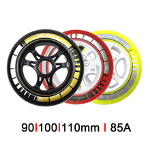 JK PS Speed Skating wheels 8 or 6 Pcs/lot Roller Skates Speeding Racing Wheel for Powerslide Patine 90mm 100mm 110mm LZ92