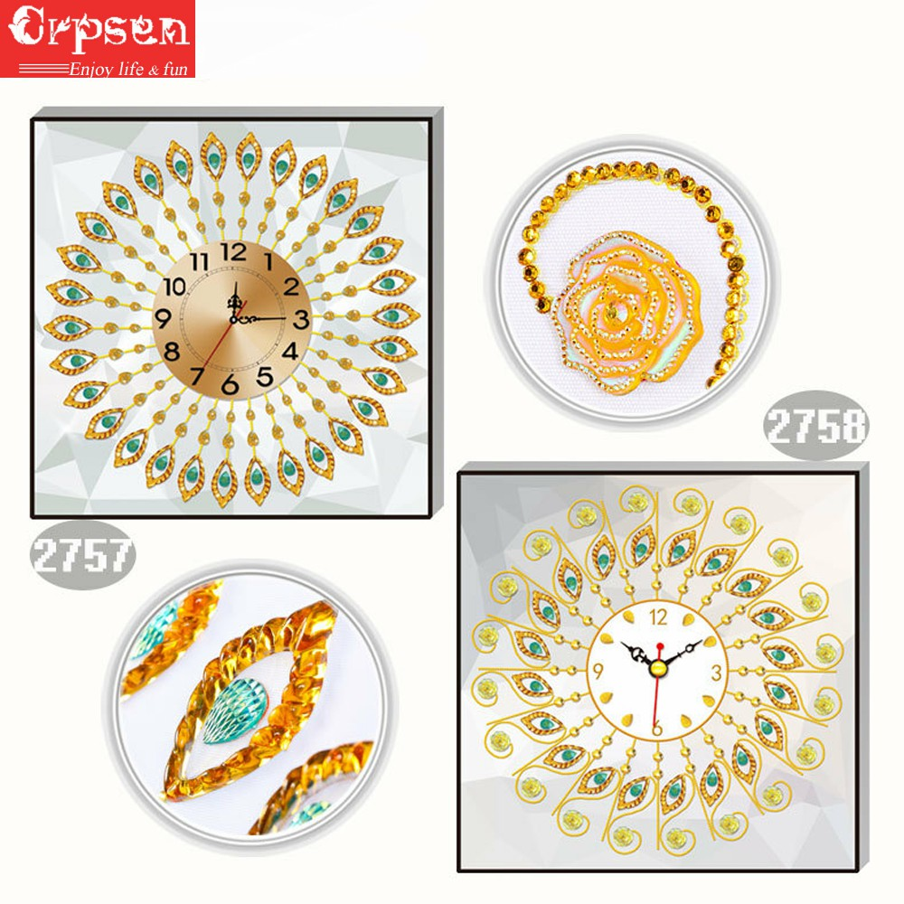 Clock Diamond Painting 5D DIY Embroidery Creative Partical Round&Special Decor Arts Crafts&Sewing Needlework Cross Stitch