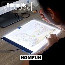 ¡Dimmable! Almohadilla de luz LED para tableta A4 ultradelgada, compatible con la UE/ru/AU/US/USB, bordado de diamantes, Kits de pintura de punto de cruz