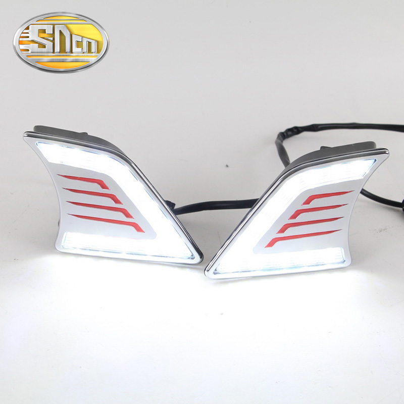 For Toyota Hilux Vigo 2012 - 2014,With Chromed Or Black Cover Waterproof ABS 12V Car DRL LED Daytime Running Light SNCN 2016 2017 for toyota hilux chrome accessories front tail lights cover for toyota hilux basic versions car hilux ycsunz