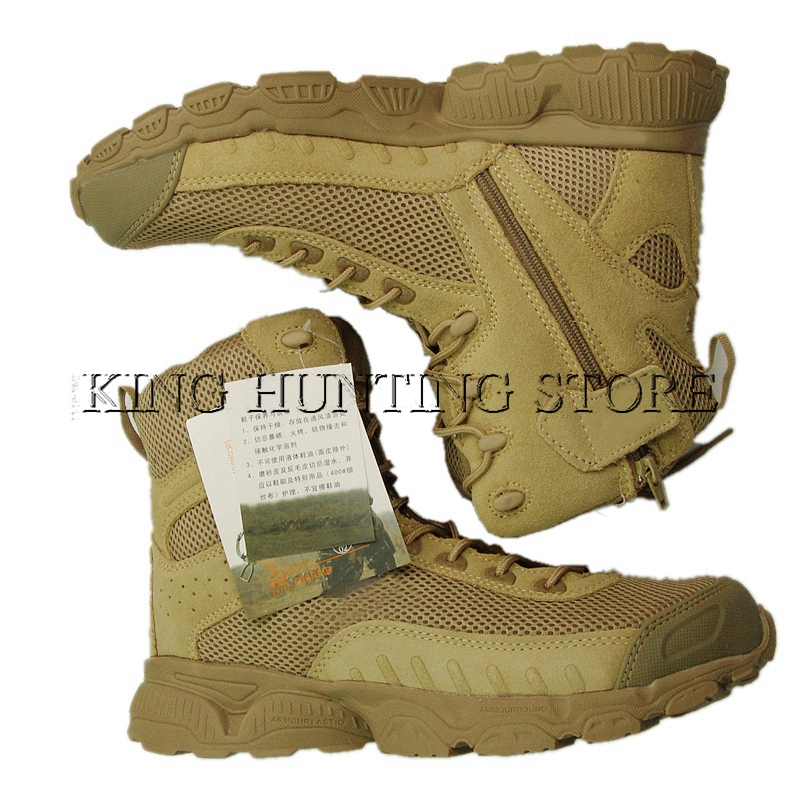 New Arrive Men's Nylon Mesh Military Tactical Boots Desert Combat Outdoor Army Hiking Travel Boots Leather Ankle Boots new outdoor hiking boots special forces tactical boots men s desert combat boots size 39 40 41 42 43 44 45
