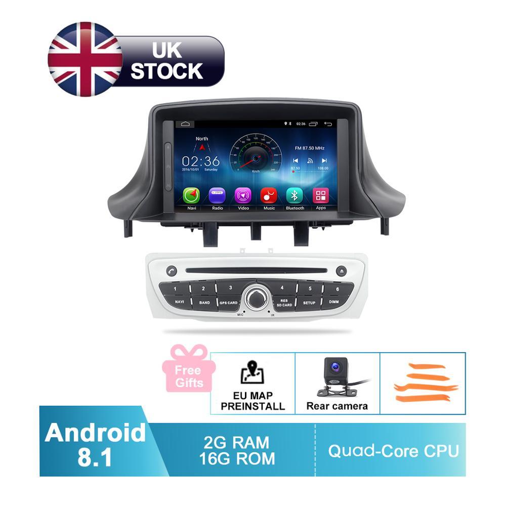 Car DVD Camera Gps Navigation Radio Wifi Fluence Android 8.1 Renault Megane 3 2009