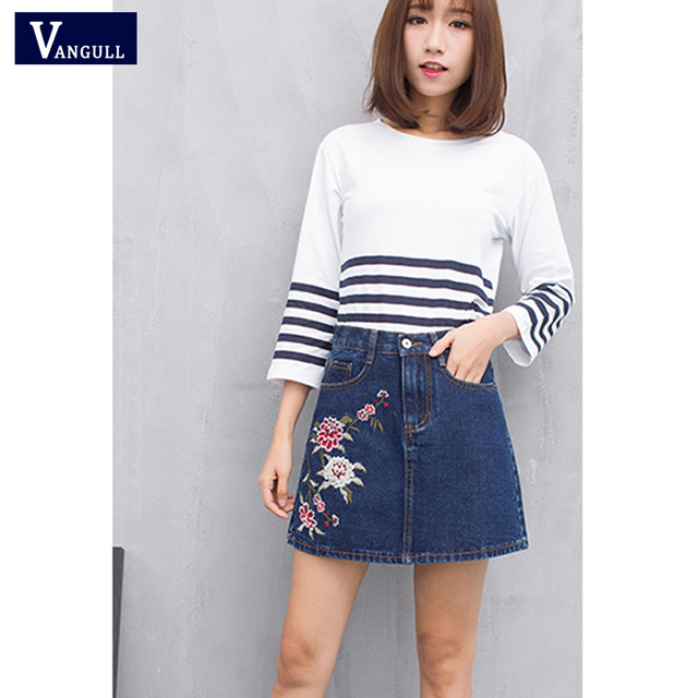 87a5c8be905225 Brand 2018 Nieuwe Collectie Zomer stijl vrouwen Mode Toevallige Denim Rok  Sexy katoen Jeans vrouwen Rokken