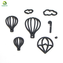 8PCS Hot Air Balloon Cookie Cutter Plastic Clouds Fondant Biscuit Mold Cutter Baking Water Drops Cake Mold Cake Decorating Tools