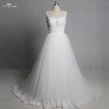 RSW1350 Real Pictures Yiaibridal Sleeveless Boat Neckline