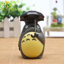 J Ghee Japanese Cartoon Anime Resin 10cm My Neighbor Totoro with Umbrella Action Figure Classic Toys Free Shipping Brinquedos(China)
