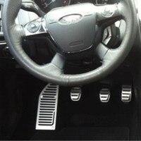 Emaicoca Car styling Aluminium Alloy Footrest Gas Brake Clutch Pedal Case For Ford Focus 2 Focus 3 KUGA Escort auto accessories