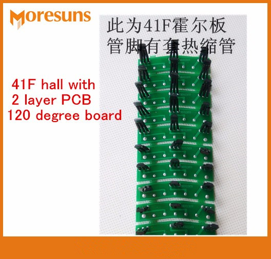 Free Ship 100pcs/lot Electric Vehicle Motor Hall Plate Circuit Board Hall Element 41F Hall With 2 Layer PCB 60/120 Degree Board