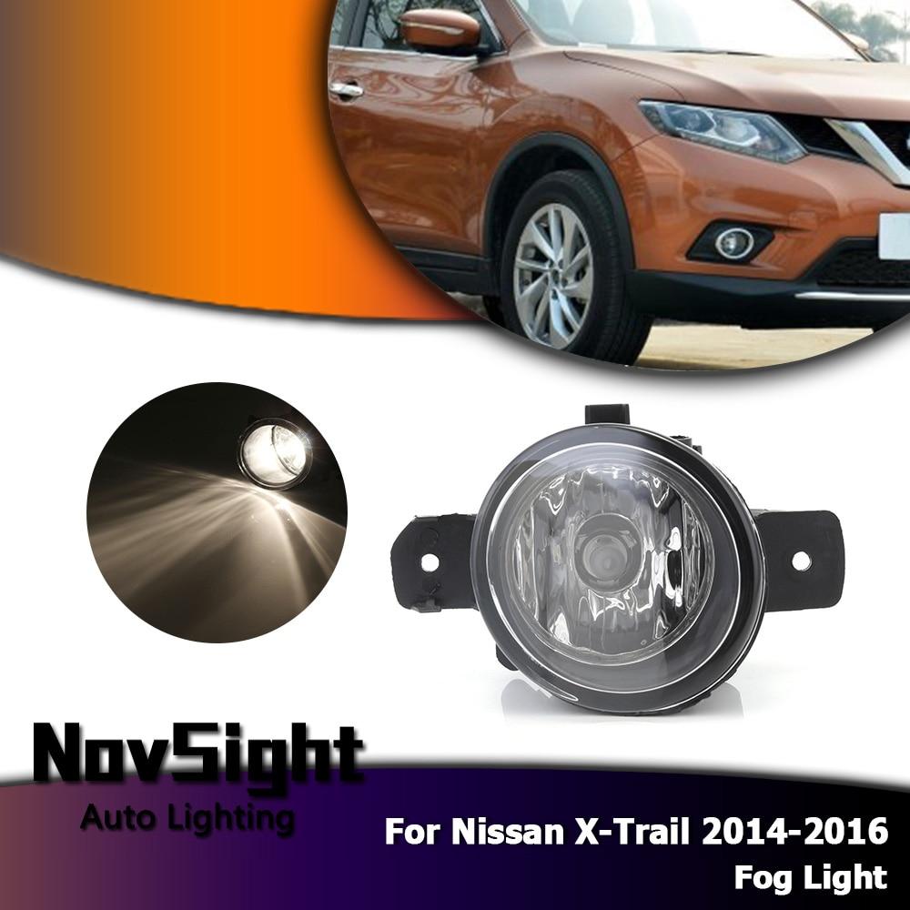 NOVSIGHT Auto voiture conduite feux de brouillard lampe ampoules halogènes feux de brouillard pour Nissan x-trail 2014-2016 D35