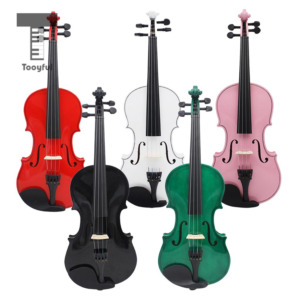 Tooyful Standard 4/4 Full Size Natural Basswood Acoustic Violin Fiddle with Case Bow Rosin Set for Concert Performance high quality 4 4 violin case full size violin case fiddle violin case fiber glass case with bow holders