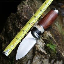 2016 hot Handmade outdoor small tool/antlers handle/outdoor fruit knife/tactical hunting knife